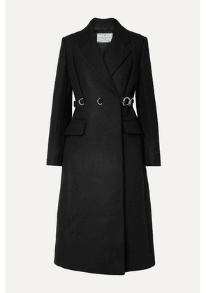 Prada - Belted Wool Coat - Black