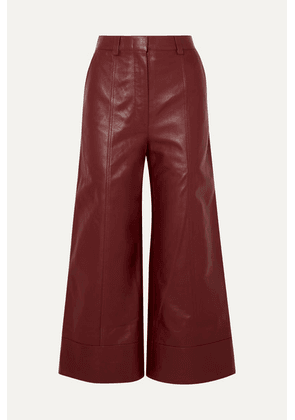Dodo Bar Or - Magen Leather Wide-leg Pants - Burgundy