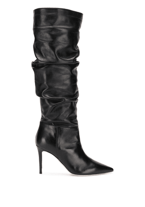 Deimille pointed knee-length boots - Black