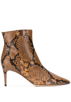 Deimille snakeskin-effect pointed boots - Brown