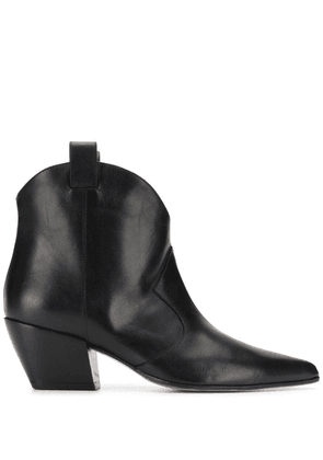 Deimille pointed ankle boots - Black