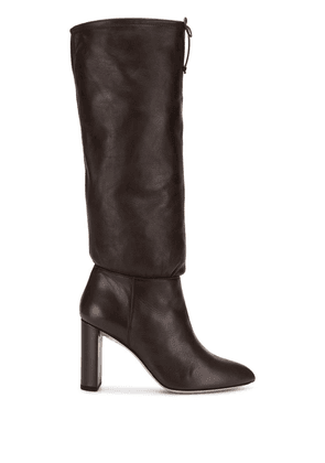 Deimille tied knee-length boots - Brown