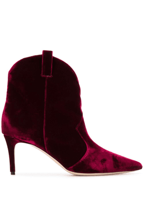 Deimille pointed ankle boots - Red