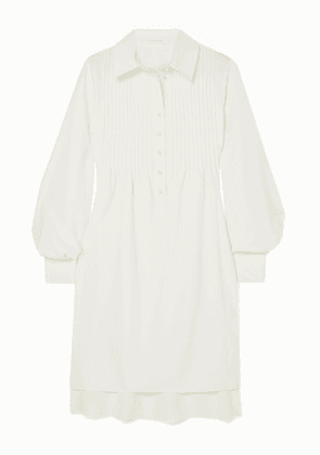 See By Chloé - Pintucked Crepe Dress - Ivory