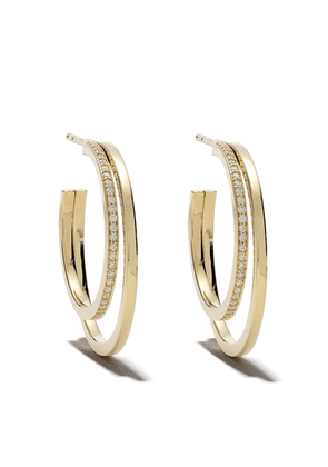 Georg Jensen 18kt yellow gold Halo brilliant cut diamond earrings