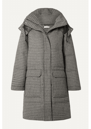 By Malene Birger - Ebba Quilted Houndstooth Woven Down Coat - Gray