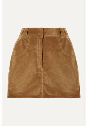 RE/DONE - 90s Ultra High Rise Western Pocket Cotton-corduroy Mini Skirt - Camel
