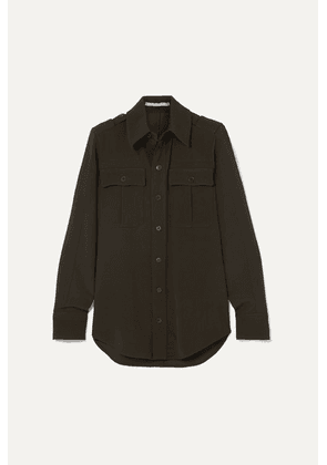 Stella McCartney - Wool-twill Shirt - Army green