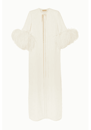 Elie Saab - Feather-trimmed Cady Jacket - White