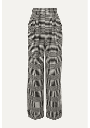 Emilia Wickstead - Francis Prince Of Wales Checked Wool-blend Wide-leg Pants - Dark gray