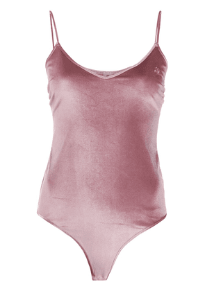 Love Stories velvet bodysuit - PINK