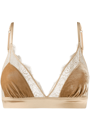 Love Stories lace detail bra - Brown