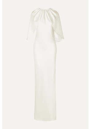 Brandon Maxwell - Cape-effect Silk-charmeuse Gown - Ivory