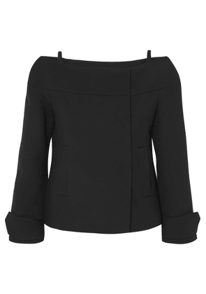 Prada - Cold-shoulder Wool Jacket - Black