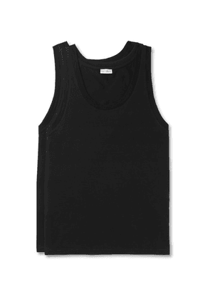 Dolce & Gabbana - Day By Day Two-pack Stretch-cotton Jersey Tank Tops - Black