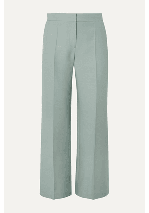 Valentino - Wool And Silk-blend Crepe Wide-leg Pants - Green
