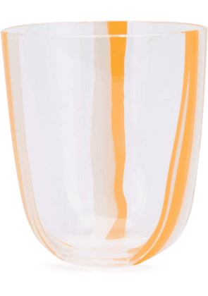Carlo Moretti striped drinking glass - ORANGE