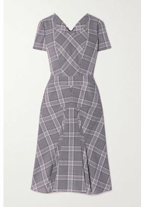 Roland Mouret - Bowland Checked Wool Dress - Light gray