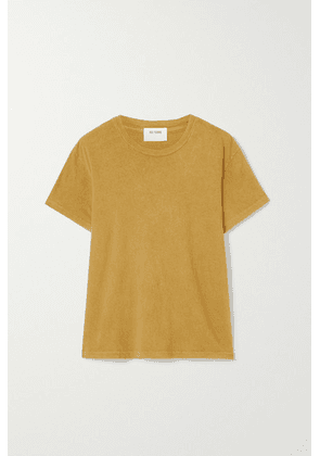 RE/DONE - 70s Supima Cotton-jersey T-shirt - Yellow