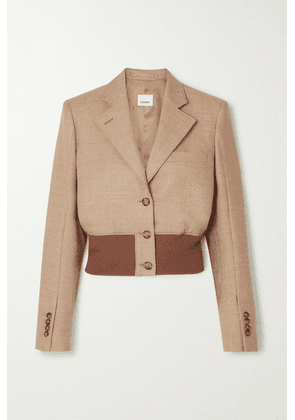 Burberry - Cropped Wool-blend And Stretch-knit Blazer - Beige