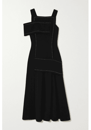 3.1 Phillip Lim - One-shoulder Paneled Crepe Maxi Dress - Black