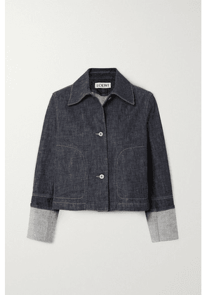 Loewe - Cropped Denim Jacket - Blue