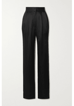 TOVE - Remi Silk-crepon Straight-leg Pants - Black