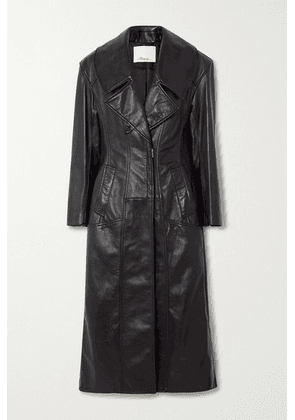 3.1 Phillip Lim - Zip-detailed Paneled Leather Coat - Black