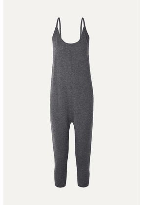 HATCH - The Onesie Merino Wool And Cashmere-blend Jumpsuit - Anthracite