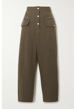 3.1 Phillip Lim - Wool-twill Straight-leg Pants - Army green