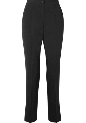Dolce & Gabbana - Wool-blend Tapered Pants - Black