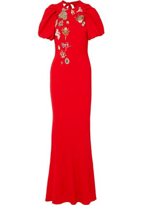 Alexander McQueen - Crystal-embellished Crepe Gown - Red