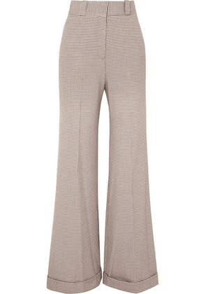 See By Chloé - Checked Tweed Wide-leg Pants - Gray