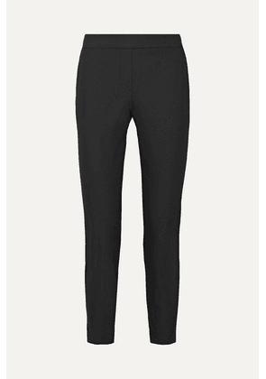 Theory - Thaniel Cropped Stretch Cotton-blend Twill Slim-leg Pants - Black