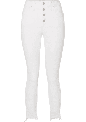 Madewell - Cropped Frayed High-rise Skinny Jeans - White
