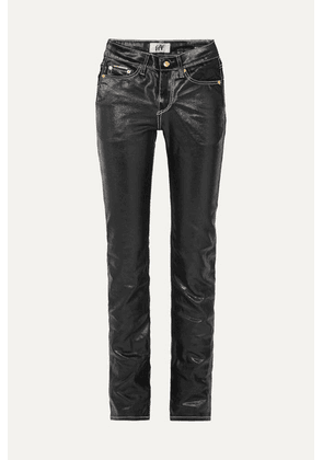 Eytys - Cypress High-rise Coated Slim-leg Jeans - Black