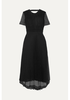 Loewe - Layered Polka-dot Chiffon Maxi Dress - Black