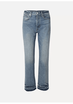 Helmut Lang - Cropped High-rise Straight-leg Jeans - Blue