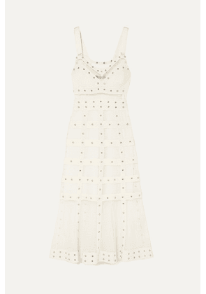 Alexander McQueen - Embellished Stretch-knit Gown - Ivory