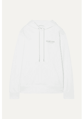 Helmut Lang - Printed French Cotton-terry Hoodie - White