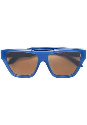 Victoria Beckham oversized sunglasses - Blue