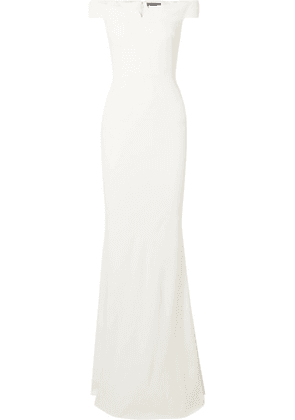 Alexander McQueen - Leaf Off-the-shoulder Crepe Gown - Ivory