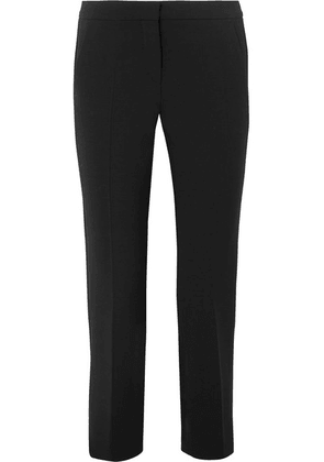 Max Mara - Alpe Cropped Stretch-wool Slim-leg Pants - Black