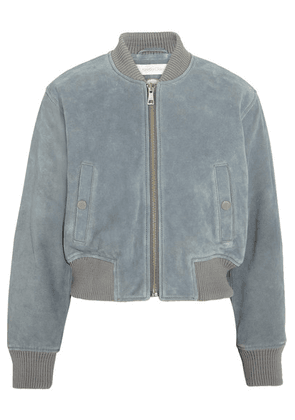 See By Chloé - Suede Bomber Jacket - Sky blue