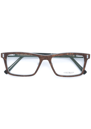 Gold And Wood 'Orion' glasses - Brown