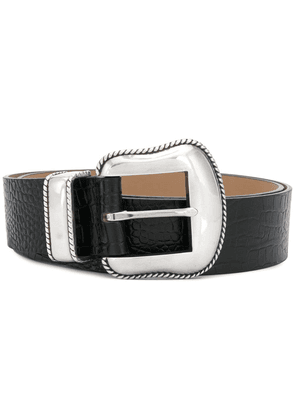 B-Low The Belt crocodile effect belt - Black