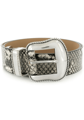 B-Low The Belt python-effect belt - White