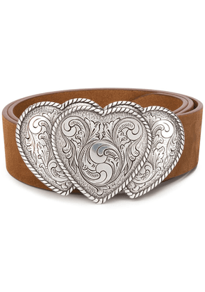 B-Low The Belt heart buckle belt - Brown