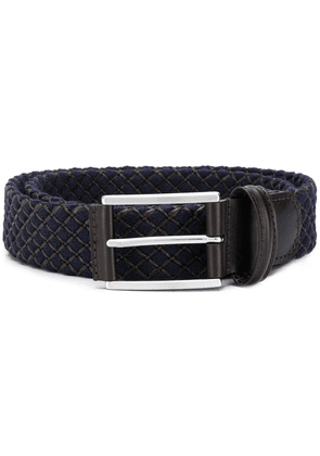 Anderson's check stitch detail belt - Blue