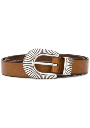 Anderson's textured buckle belt - Brown